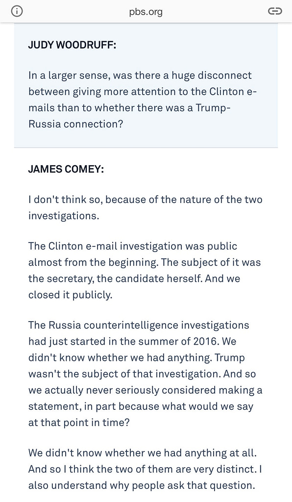 PBS Comey Interview