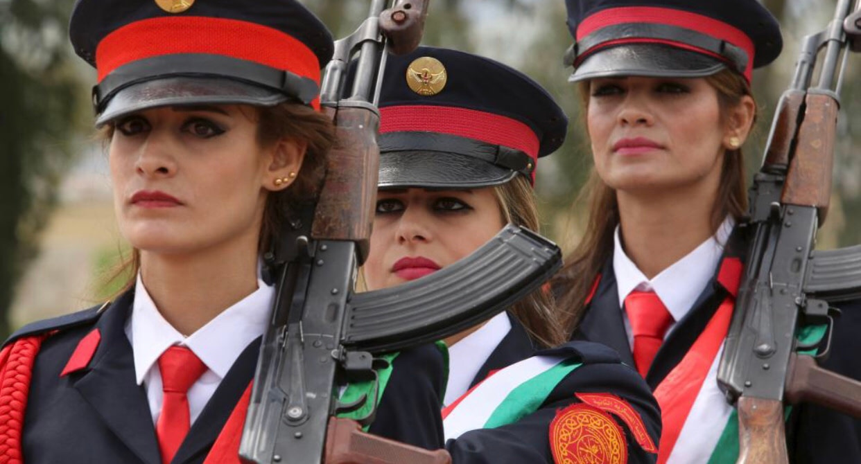 Women Peshmerga fighters